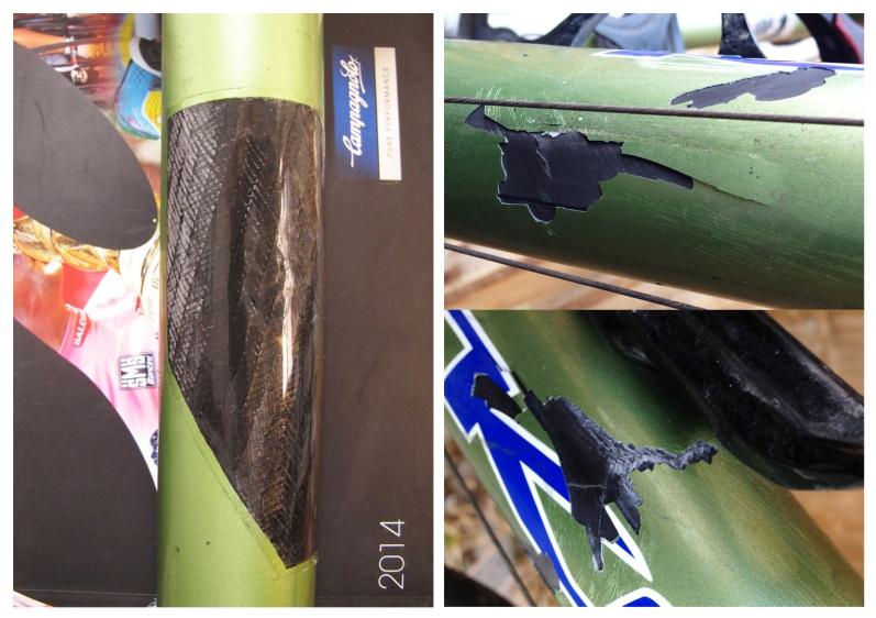 Kona carbo fiber bicycle repair